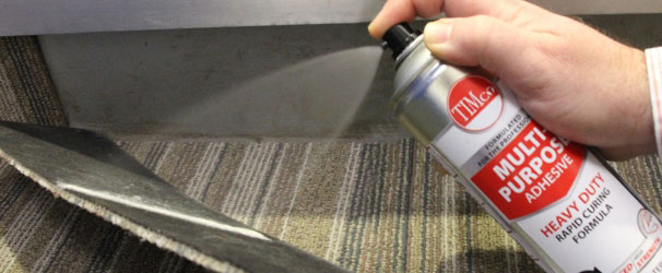 Using multi adhesive spray