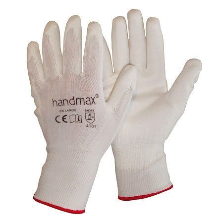 Handymax Alaska white PU gloves