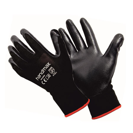 Michigan black nitrile gloves