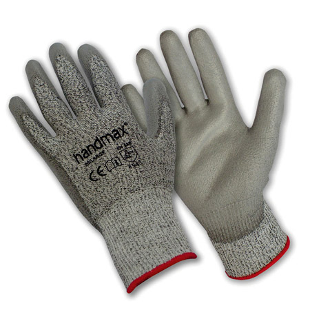 Vermont grey cut 5 PU gloves