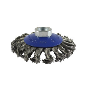 Twisted Knot Stainless Steel Wire Bevel Brush